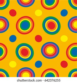 seamless abstract geometric pattern, bright and lovely for paper, fabrics and Wallpapers in childish style