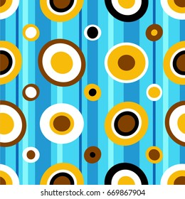 seamless abstract geometric pattern, bright for paper, fabrics and Wallpapers in childish style
