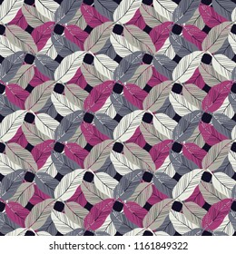 Seamless abstract geometric pattern. Feathers texture. Mosaic texture. Brushwork. Hand hatching. Scribble texture. Textile rapport.
