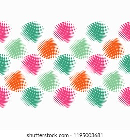 Seamless abstract geometric pattern. Mosaic texture. Halftone. Brushwork. Can be used for wallpaper, textile, invitation card, wrapping, web page background.