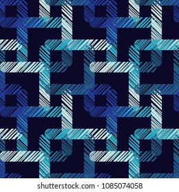 Seamless abstract geometric pattern. The texture of the strips. Scribble texture. Textile rapport.
