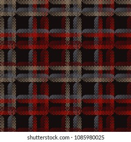Seamless abstract geometric pattern. Texture of stripes and dots. Scribble texture. Textile rapport.