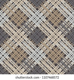 Seamless abstract geometric pattern. Texture with crosses. Brushwork. Hand hatching. Scribble texture. Textile rapport.