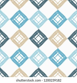 Seamless abstract geometric pattern. Texture patchwork. Mosaic texture. Brushwork. Hand hatching. Can be used for wallpaper, textile, invitation card, wrapping, web page background.