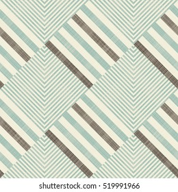 Seamless abstract geometric pattern in turquoise, brown and beige on texture background. Endless pattern can be used for ceramic tile, wallpaper, linoleum, textile, web page background.