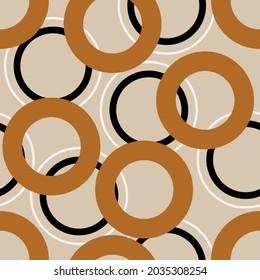 Seamless abstract geometric pattern. Vector Illustration.