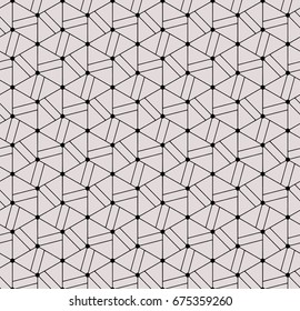 Seamless abstract geometric pattern vector background