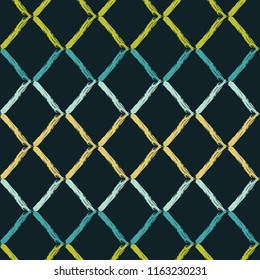 Seamless abstract geometric pattern. Zigzag texture. Mosaic texture. Brushwork. Hand hatching. Scribble texture. Textile rapport.