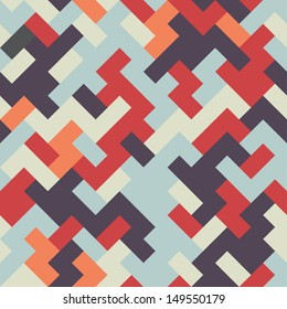 Seamless abstract geometric vector pattern