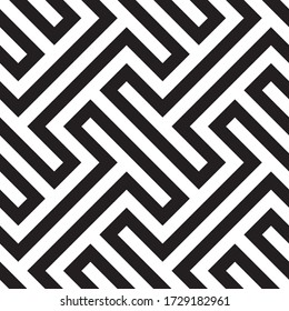 Seamless Abstract Greek Key Background Pattern