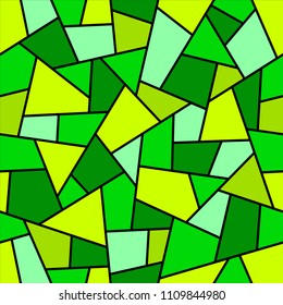 Seamless abstract green geometrical pattern.