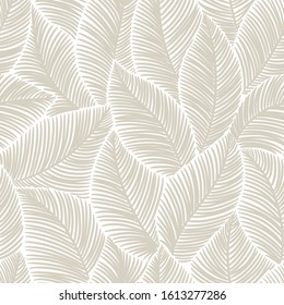 seamless  abstract grey floral   background with leaves