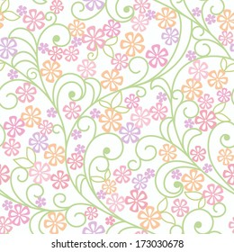 seamless abstract grey floral background