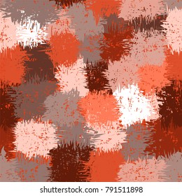 Seamless abstract grunge stained pattern in brown,beige,orange,grey,white colors for web design