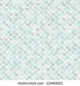 Seamless abstract hand drawn pattern in blue colors. Vector illustration
