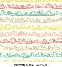 Seamless abstract hand drawn pattern. Vector illustration