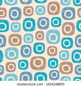 Seamless abstract ikat pattern with the image of oval geometric shapes