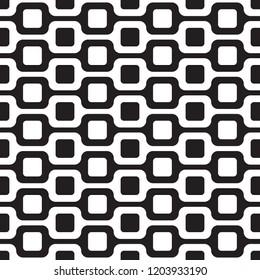 Seamless abstract Ipanema beach sidewalk pattern