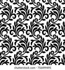 Seamless abstract liana twisted tendril background isolated.