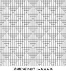 Seamless abstract lines pattern vector. Design corners overlapping stripes black on white background. Design print for illustrations, textile, texture, wallpaper, background.