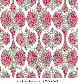 Seamless Abstract Loop Shapes Surface Design Pattern
