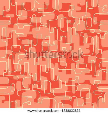 Seamless Abstract Mid Century Modern Pattern Stock Vector Royalty