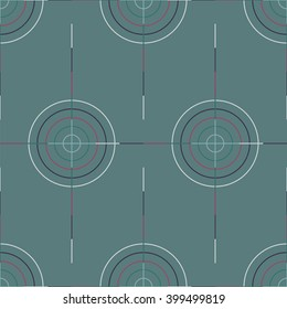 Seamless abstract modern pattern created from Circles and Lines