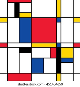 Seamless abstract mosaic pattern. Mondrian