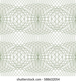Seamless abstract ornament on white background. Elegant grey vector pattern illustration for invitations, banknotes, diplomas, certificates, tickets and other papers security or wrapping design