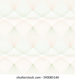 Seamless abstract ornament on white background. Elegant vector pattern illustration for invitations, banknotes, diplomas, certificates, tickets and other papers security or wrapping design