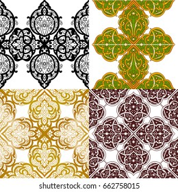 Seamless abstract ornate pattern