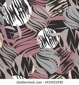 Seamless abstract pattern. Endless pattern can be used for ceramic tile, wallpaper, linoleum, web page