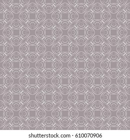 Seamless abstract pattern. Four-sided elements. Openwork lines. Wallpaper. Background.