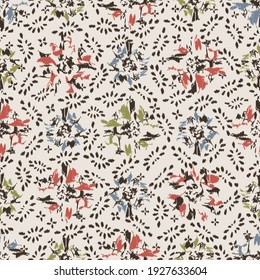 Seamless abstract pattern with the image of flowers