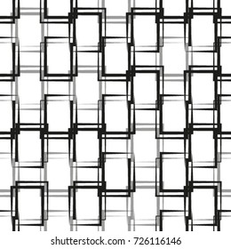 Seamless abstract pattern made with black and white squares
