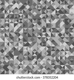 Seamless Abstract pattern: monochrome platinum background with Holographic effect.  Vector illustration.