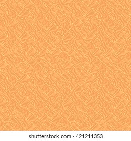 Seamless abstract pattern in pale yellow and peach-orange colors. Vector illustration.