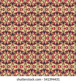 Seamless abstract pattern for printing on fabric or paper. Hand-drawn background.