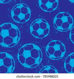 Seamless abstract pattern with silhouettes of balls for football, soccer.  pattern for textiles, fabrics, clothes, wrapping paper, wallpaper, bed linen, web, for boys.
