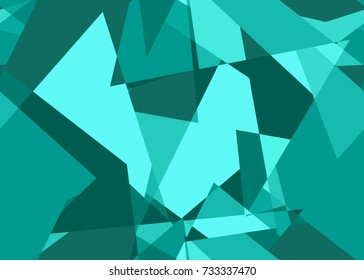 Seamless abstract pattern in teal from the Flat UI palette