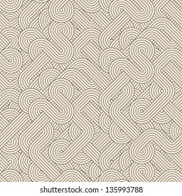Seamless abstract pattern with twisted lines. Vector illustration