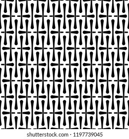 Seamless abstract pattern vector. Design bones black on white background. Design print for wallpaper, textile, fabric, background. Set 5