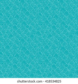 Seamless abstract pattern in white and blue-green colors. Vector illustration.