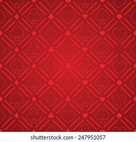 Seamless Abstract Poker Pattern Red