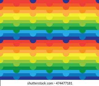 Seamless Abstract Rainbow Color Gradient Pattern Background