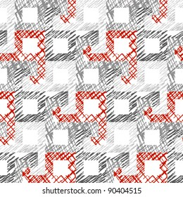 Seamless abstract red and gray pattern