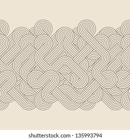 Seamless abstract retro border. Vector illustration