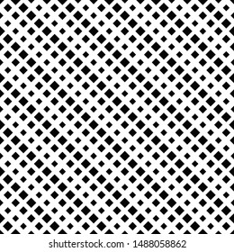 Seamless abstract square pattern background - black and white vector design from diagonal squares