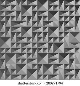 Seamless abstract squares pattern gray color, vector