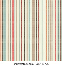 Seamless abstract stripe pattern in retro colors. Endless geometric pattern can be used for ceramic tile, wallpaper, linoleum, textile, greeting or invitation card, web page background.